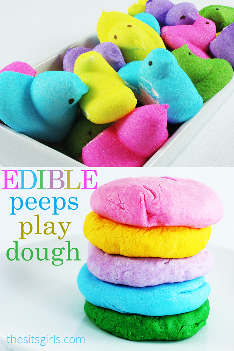 Edible Peeps Play Dough Recipe