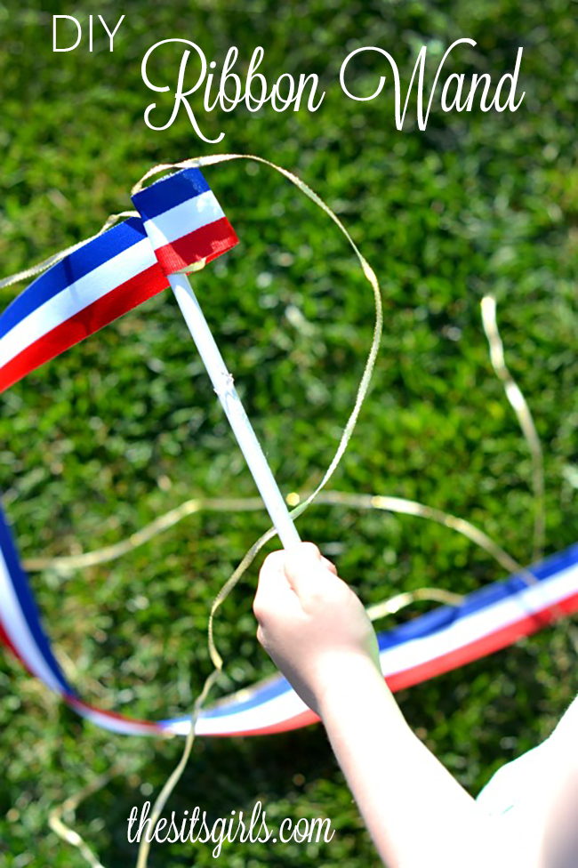 Dancing Ribbon Wands are easy to make yourself, and will provide hours of outdoor fun for kids.