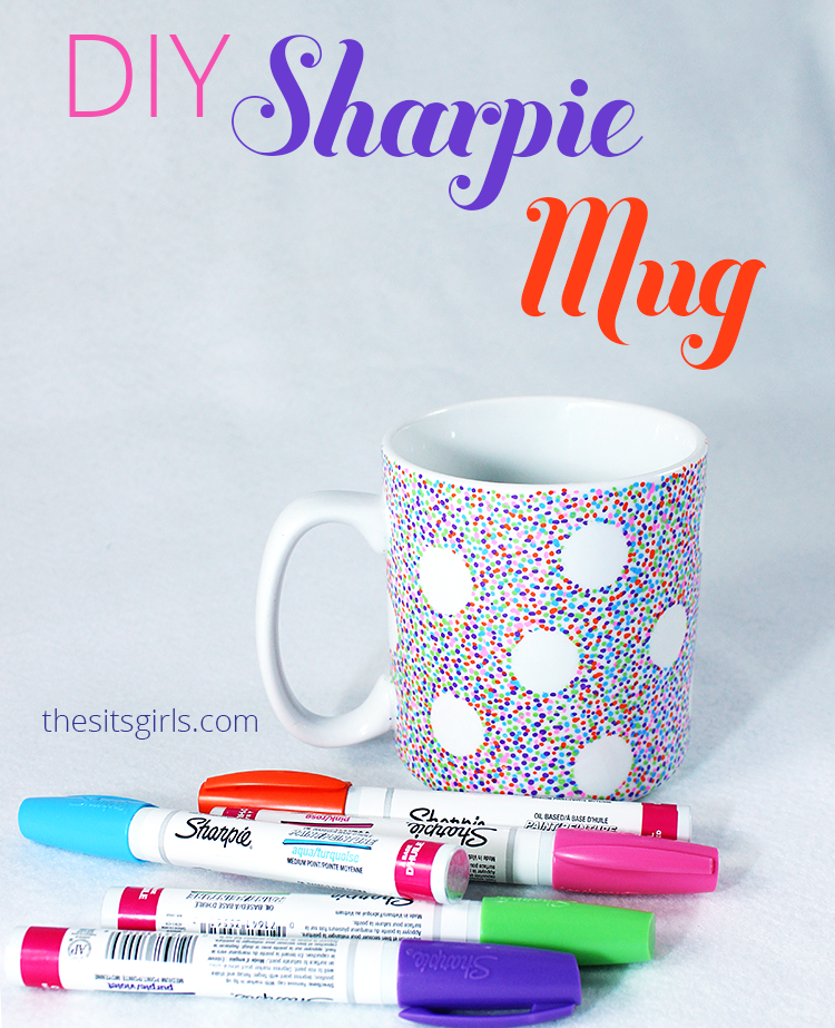 Turn your plain, boring coffee mug into something fabulous. If you follow the directions in this post exactly, you will have a DIY Sharpie Mug with a design that lasts!