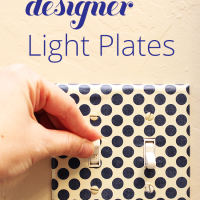 Add a touch of fun to any room in your home with diy designer light switch plat covers.