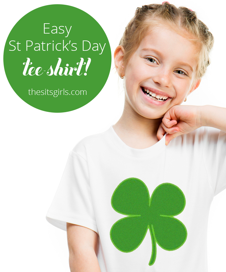 Super easy tutorial for a fun St. Patrick's Day t-shirt DIY.