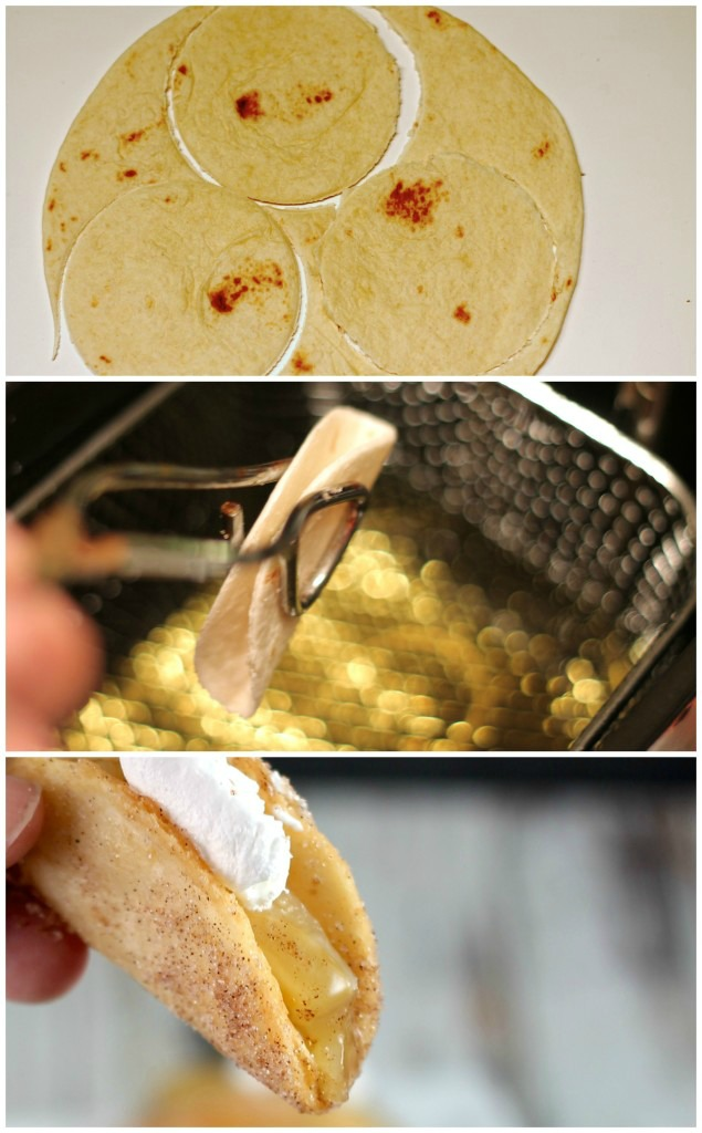 Apple Pie Tacos step by step recipe.