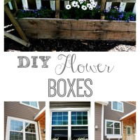 Get your house ready for spring by adding DIY window flower boxes to your house and pallet flower holders to your garden.
