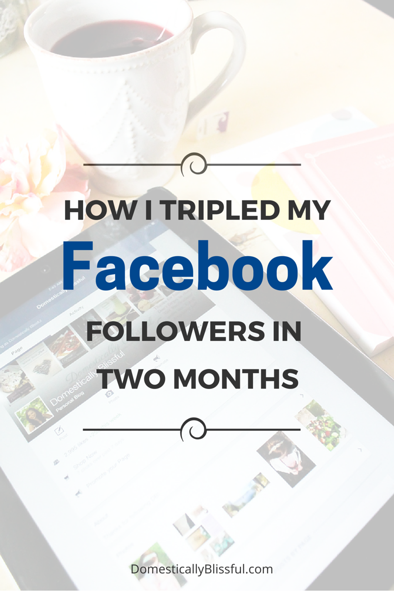 Are you ready to grow your facebook following? Check out these facebook tips and learn how I tripled my followers in two months! | Social Media Tips