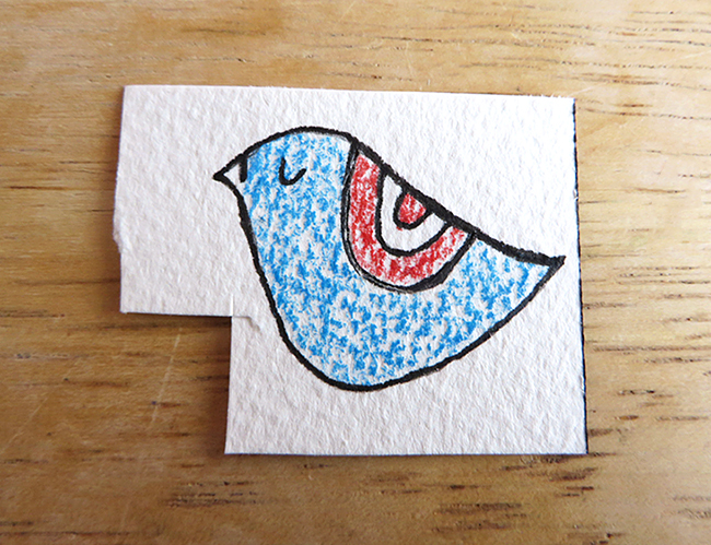 It is time to color in your bird bookmark.