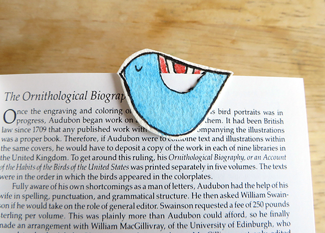 Your little bird is now a lovely bookmark.