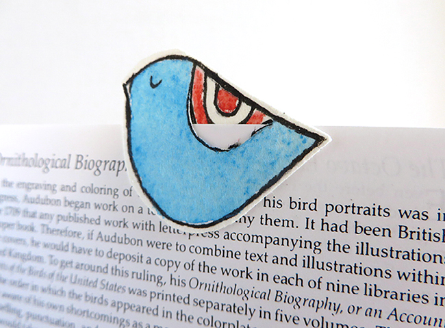 This little bird bookmark is a cute craft you can work on during naptime. Make a whole series of these for your favorite reader.