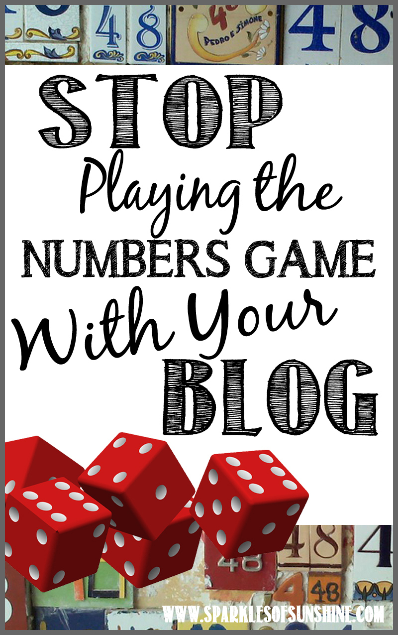 It is time to stop focusing on the numbers and stats and get back to focusing on your writing.