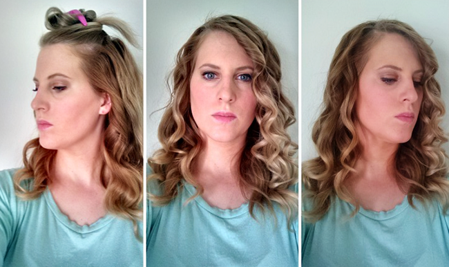Once you have twisted all of your hair with the curling iron, you will start to see curls...but we aren't finished yet!