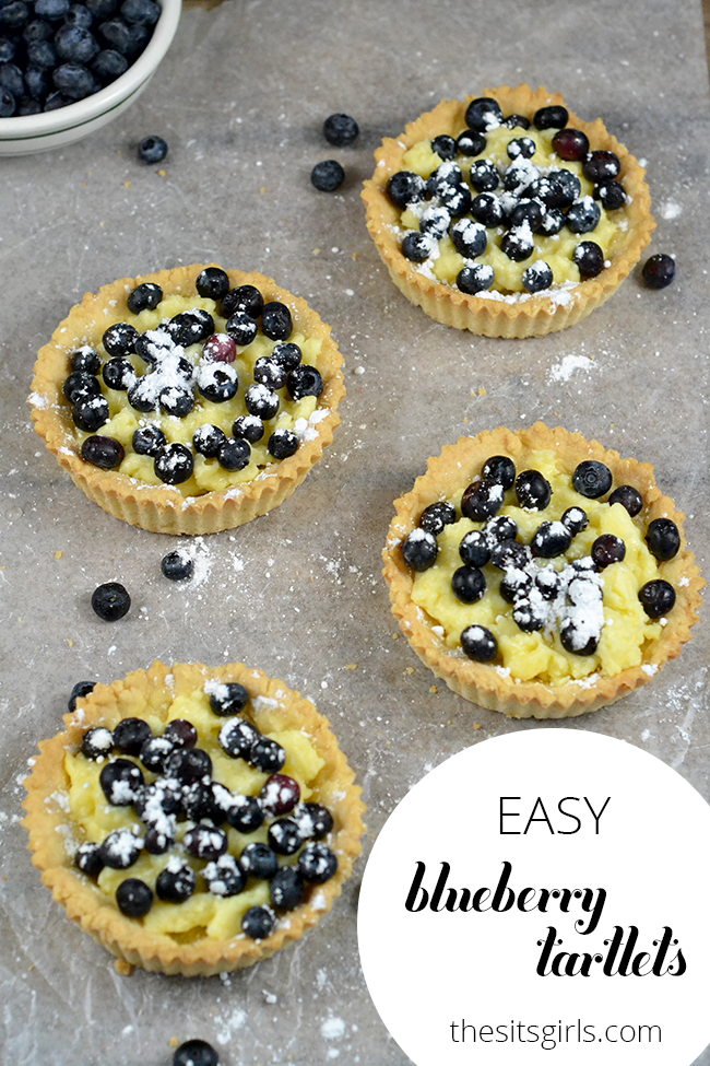The perfect dessert for spring and summer is Blueberry Tartlets. Includes a custard that is great for beginning bakers.