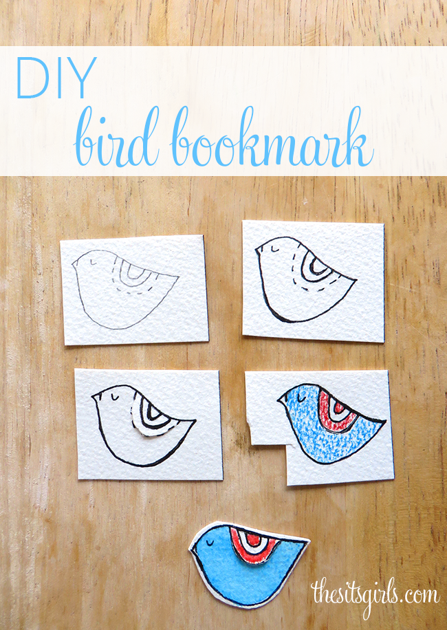 Learn how to make this cute little bird bookmark. This is a fun craft you can complete during naptime - you can even make a whole series of these for your favorite reader.