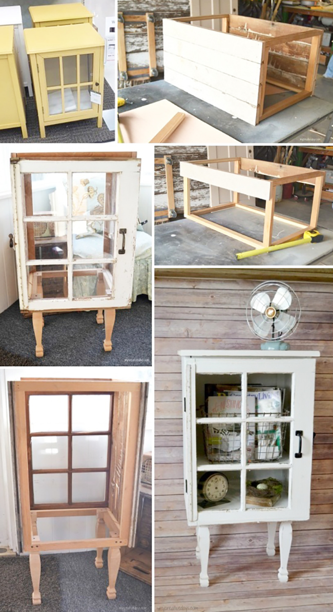 Step by step guide to make your own Target inspired shabby chic cabinet with reclaimed wood | DIY Cabinet