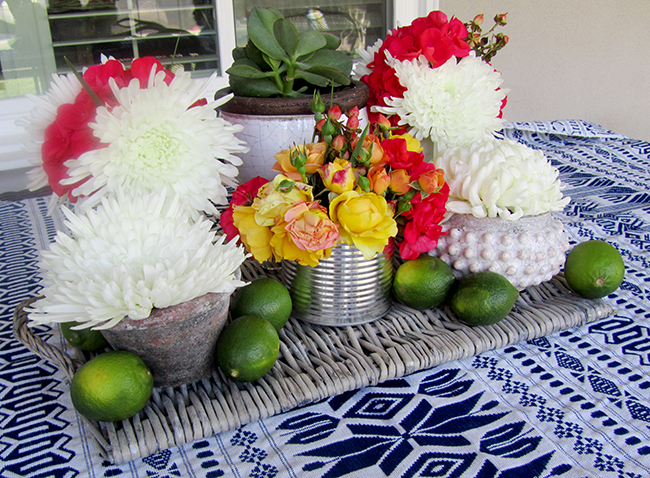 Flowers are a great way to decorate for your Cinco De Mayo party.