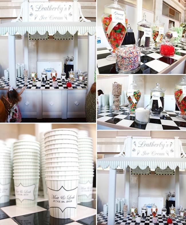 Perfect food bar idea for a wedding! Ice Cream Sundae Bar