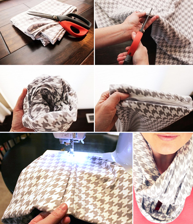 Are you looking for a five minute craft idea? This DIY infinity scarf is your answer! Super easy to make, and perfect for adding style to your spring wardrobe.