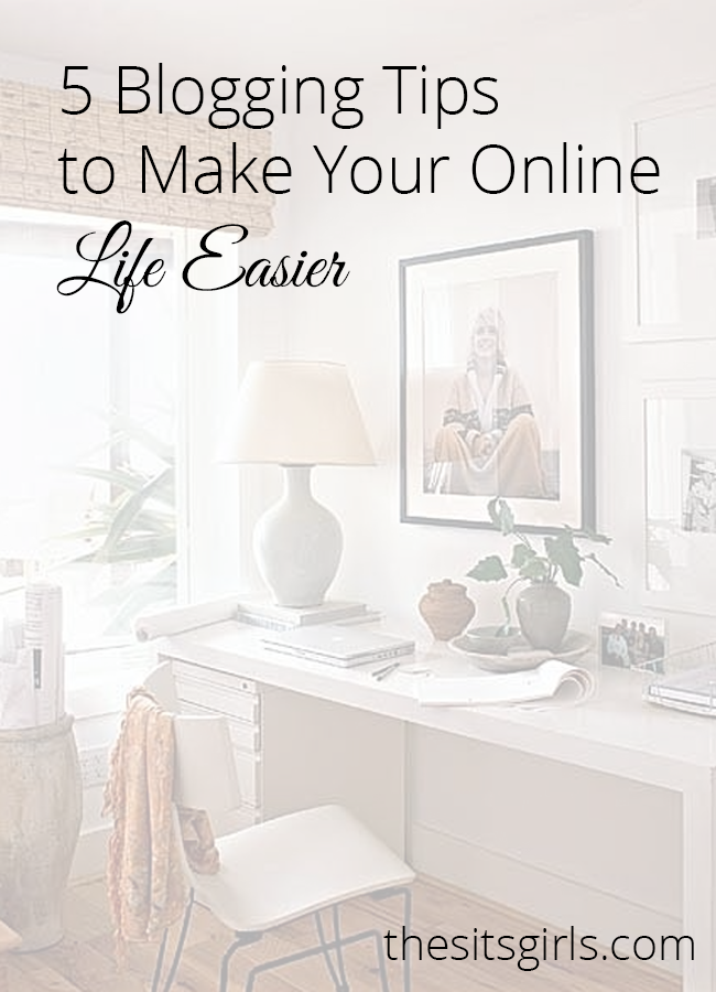 Are you looking to simplify your blogging? Check out these 5 blogging tips to make your online life easier.