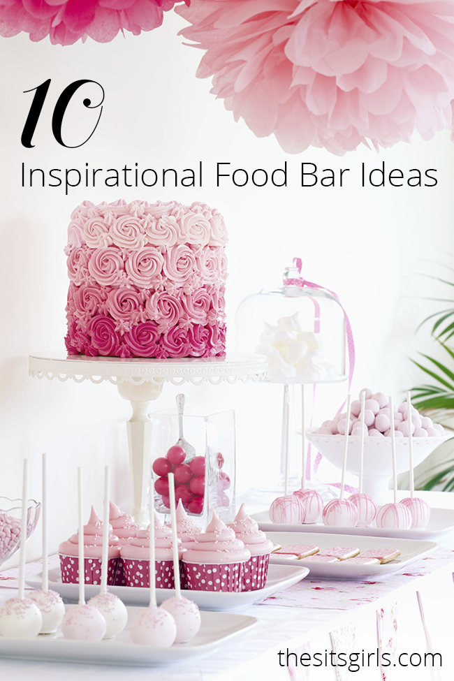 Planning a party or wedding? You need a food bar! Here are 10 amazing food bar ideas .