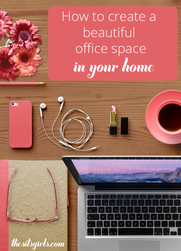 Great tips to help you create a beautiful home office space you will enjoy working in every day. | Home Decor | Work From Home