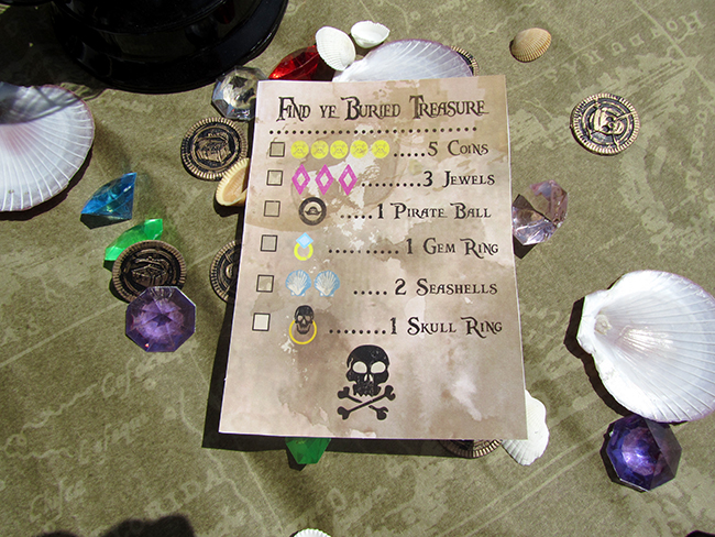 Pirate party treasure hunt guide.