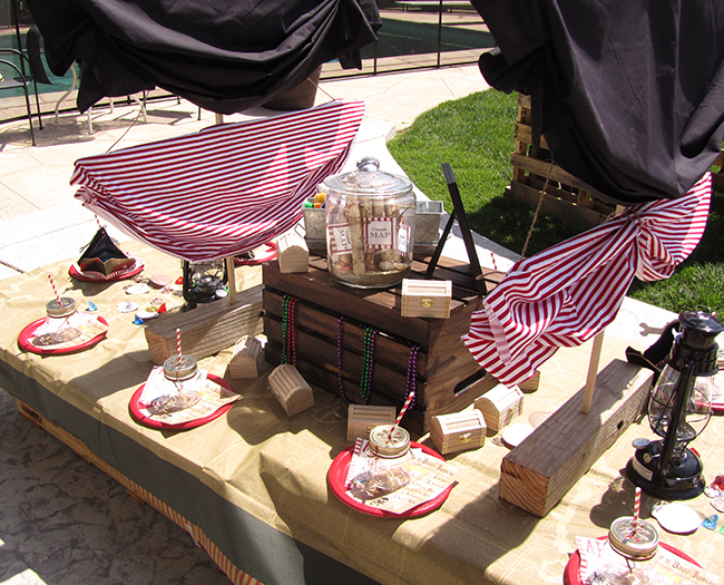 Pirate party tablescape.