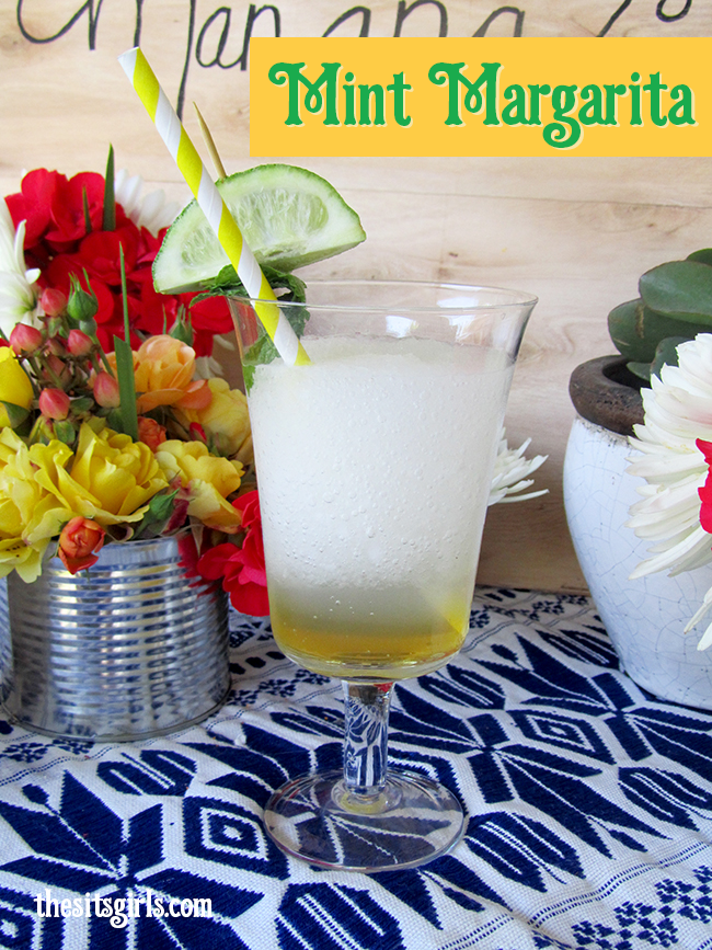 I love the idea of incorporating mint into a margarita! DELICIOUS Mint Margarita recipe - it would be great for a party.