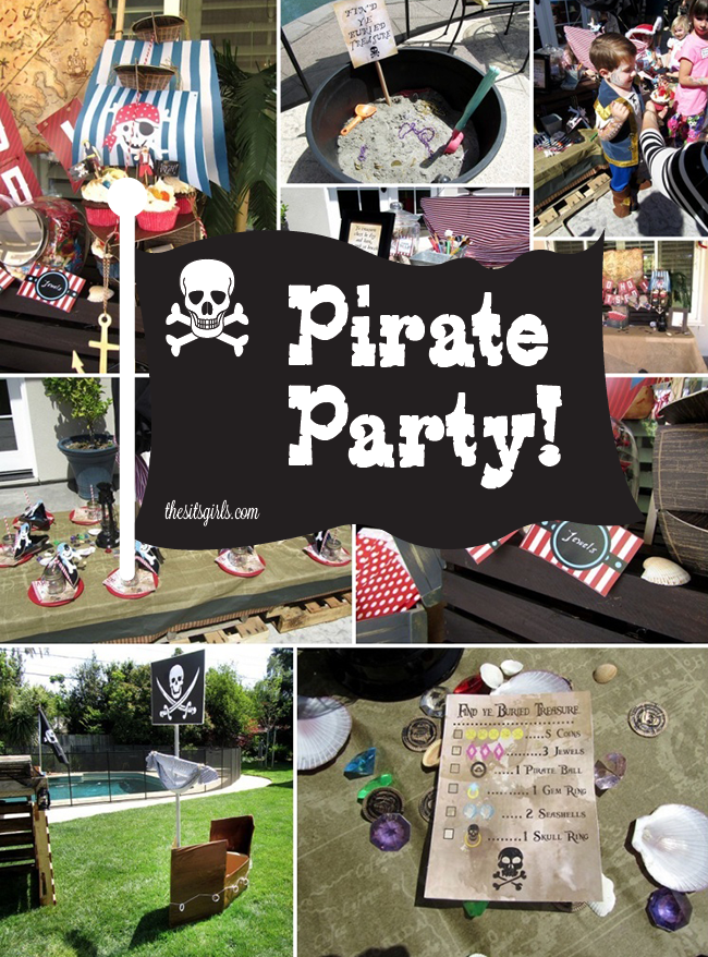 "A pirate party is great for boys and girls birthday parties. This is the ultimate guide to pirate party ideas. You'll be saying ""Arrr!"" just reading it."