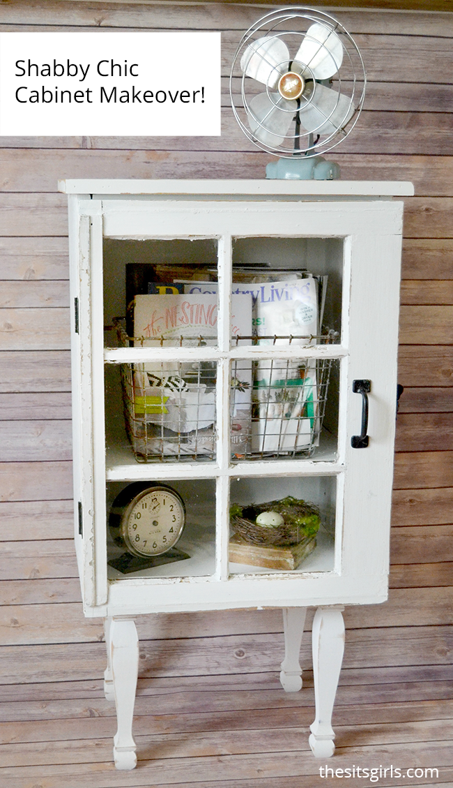 Make your own shabby chic cabinet with this Target inspired window cabinet DIY.