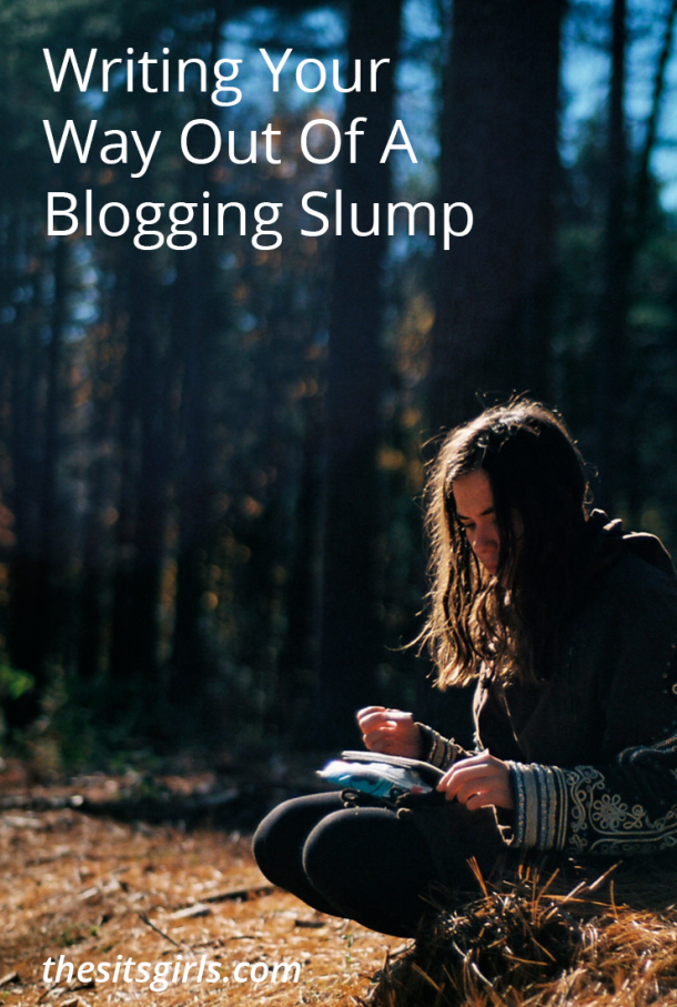 Are you struggling with your blog? Feeling uninspired or discouraged? You are not alone. This is something all bloggers deal with. Learn how to write your way out of a blogging slump. | Blog Tips