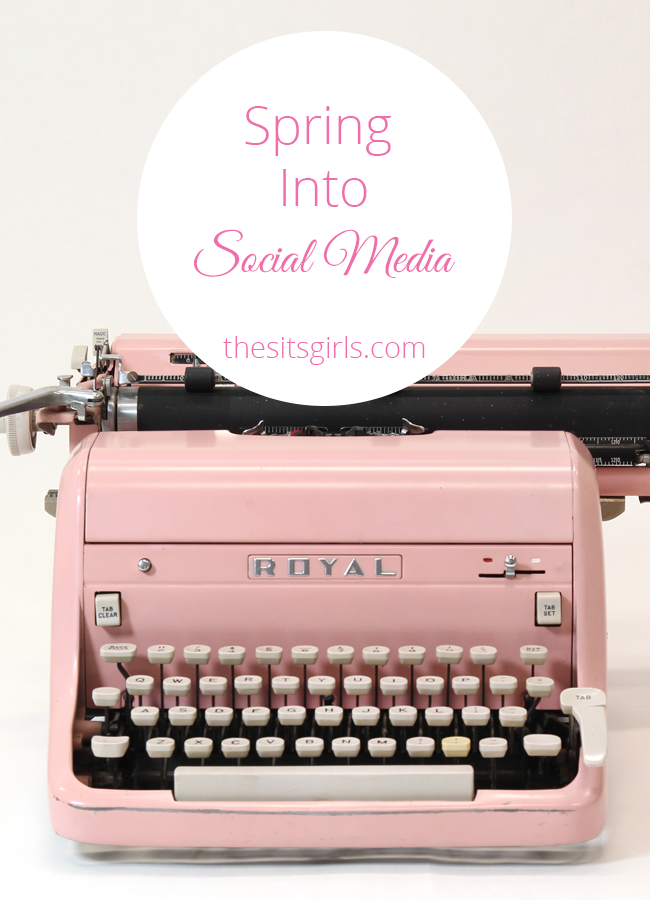 Get ready to grow your social media following during the fun Spring Into Social Media event with The SITS Girls!