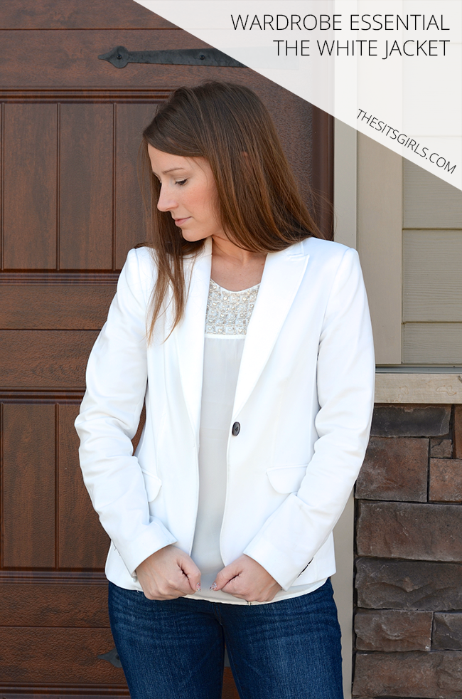What is our one must have spring fashion item? The White Jacket. It is a wardrobe essential that really can be worn all year.