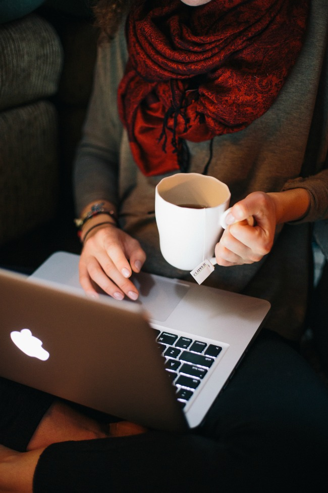 Slow down with a cup of tea and a good blog post.
