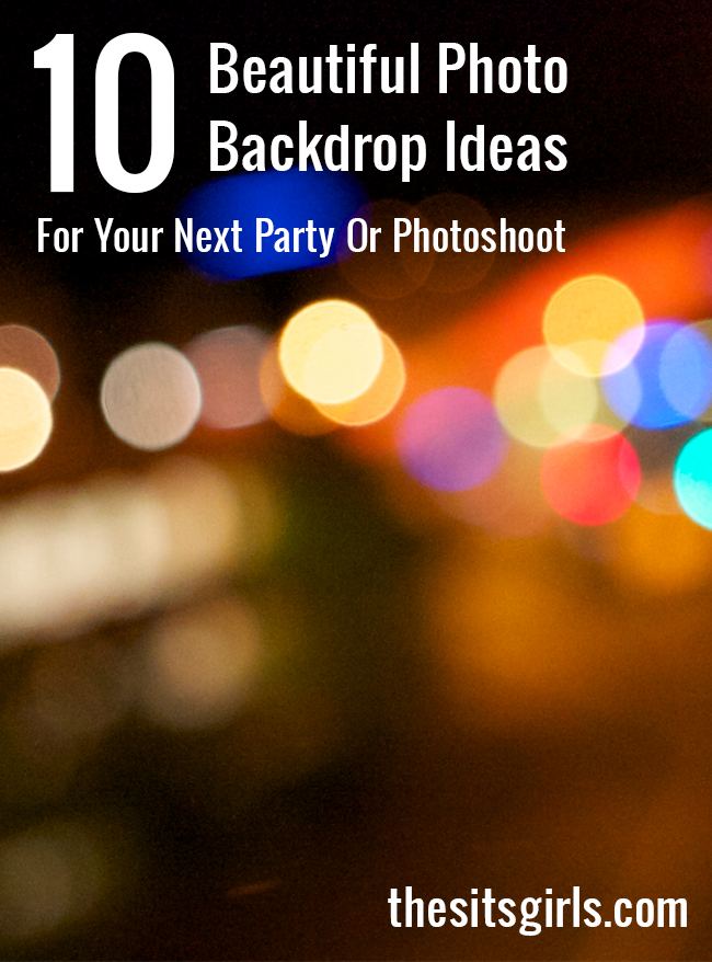 10 beautiful DIY photo backdrop ideas for your next party. These photo backdrops are easy to make and they are great for bloggers, too.