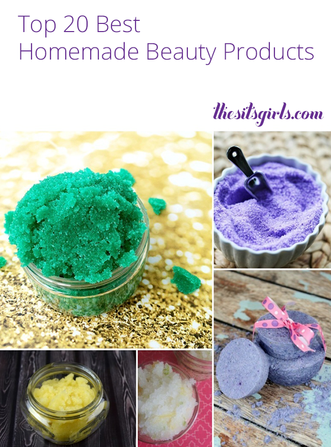 We have the top 20 best recipes for homemade beauty products right here!  | DIY Beauty | This list is a great place to start if you want to learn how to make your own scrubs, soaps, and lotions.