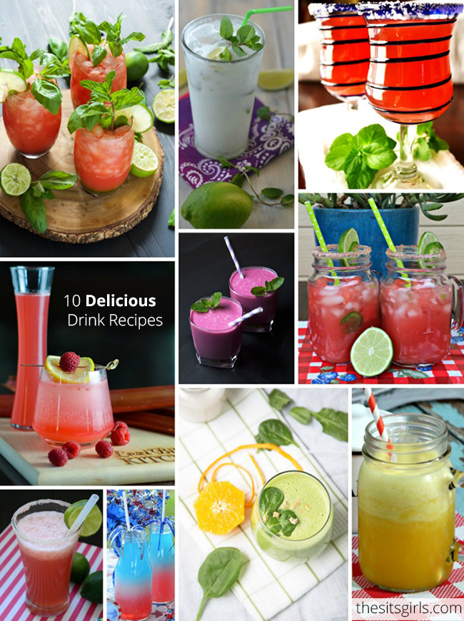 Ten delicious drink recipes to add a splash of fun to your summer!