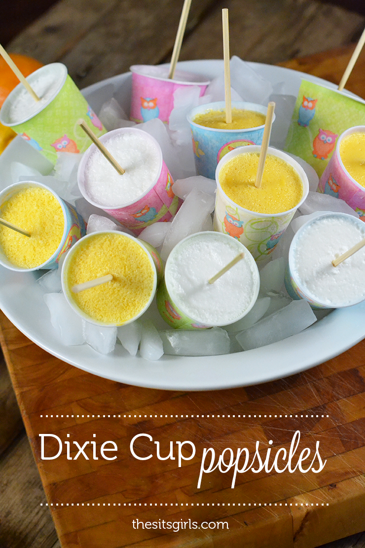 Use Dixie Cups to make popsicles this summer | easy popsicle recipe | homemade orange popsicles