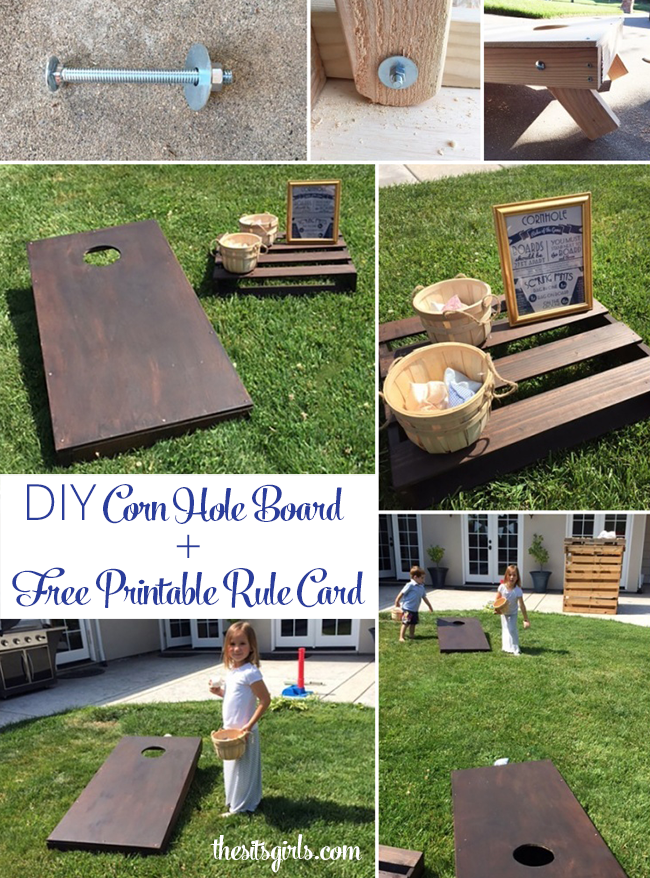 Diy Corn Hole Board Bean Bag Toss Rules