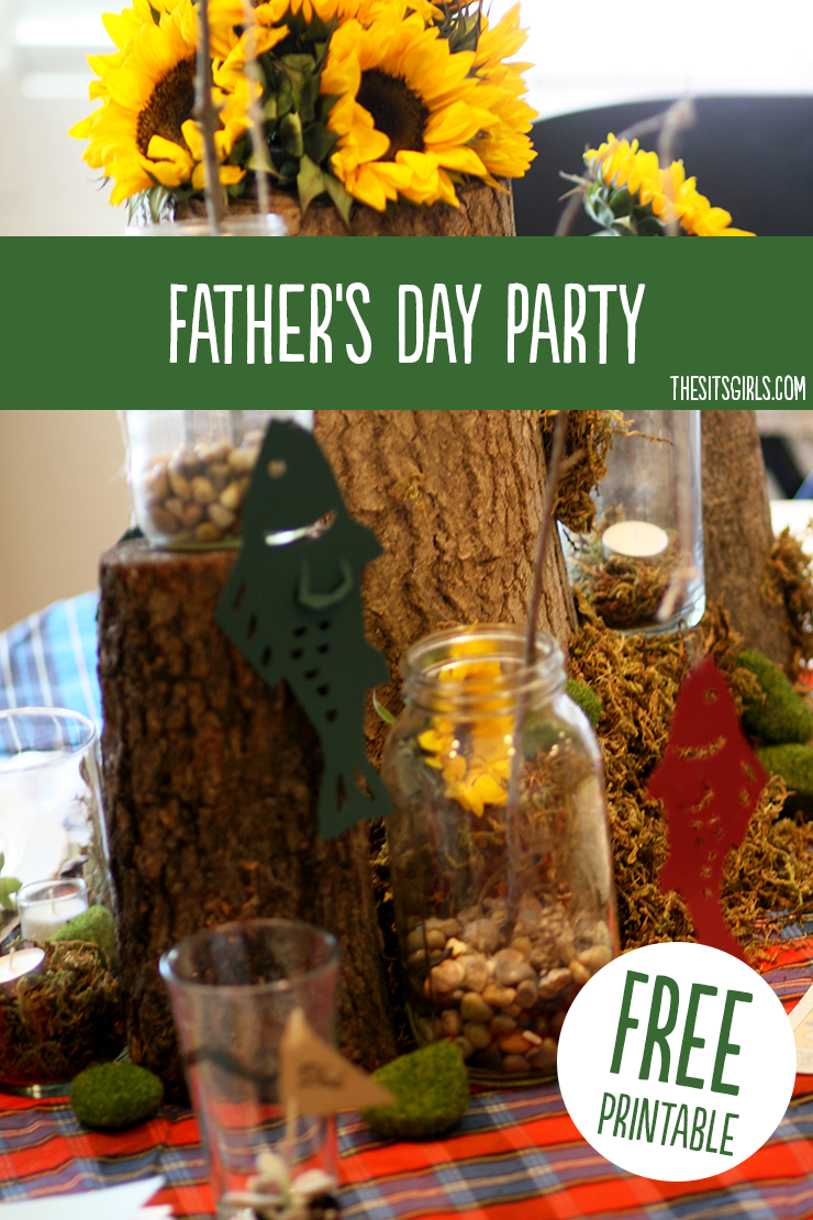 Great ideas for the perfect Father's Day tablescape. Plus a free printable Father's Day book that makes a great gift for dad. | Fathers Day Gifts From Kids