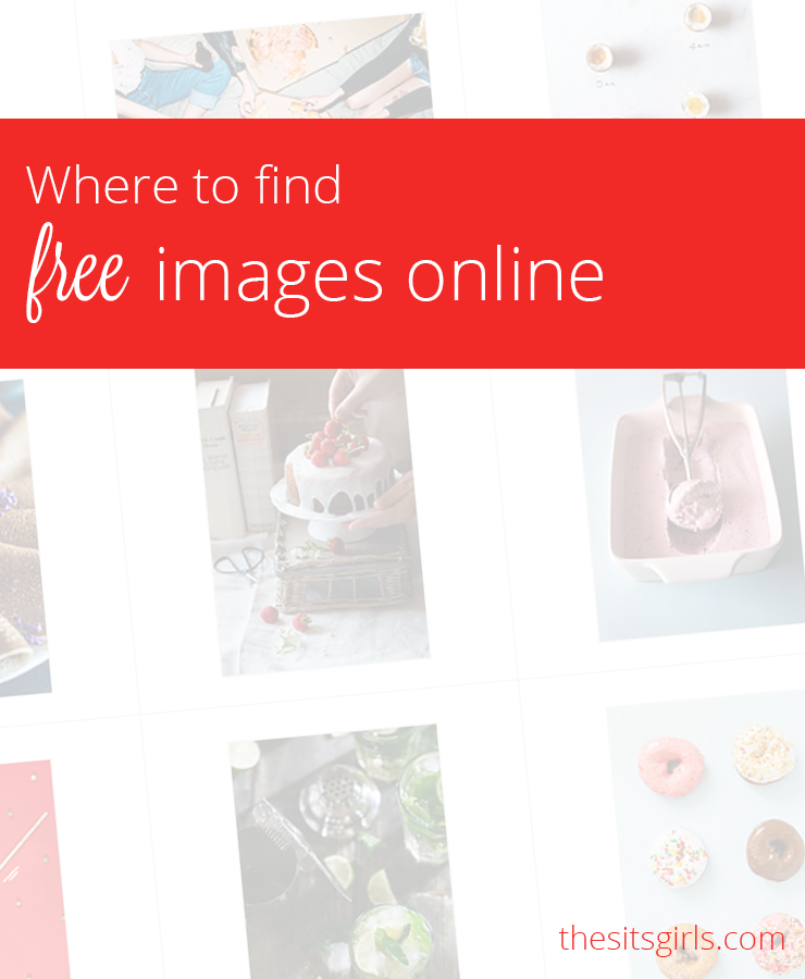 Images are a HUGE part of creating a successful blog, but it isn't always possible to take the perfect image yourself. Use this list of sites to find FREE images to use on your blog. | Blogging Tips