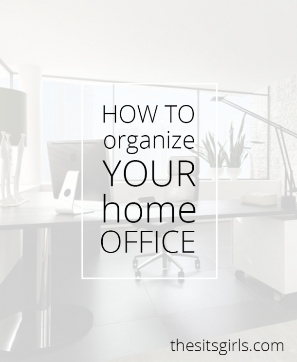 If you are going to get real work done at home, you have to have an organized and well-planned out home office space. | Great home office space organizing tips.