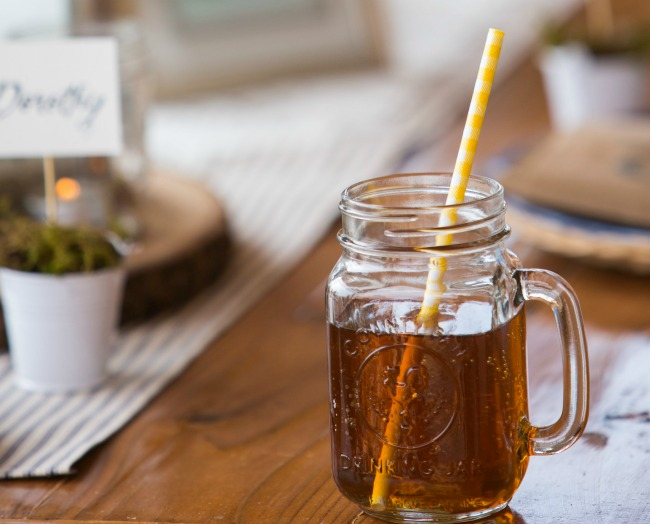 Mason jar mug! Perfect for a backyard summer party!