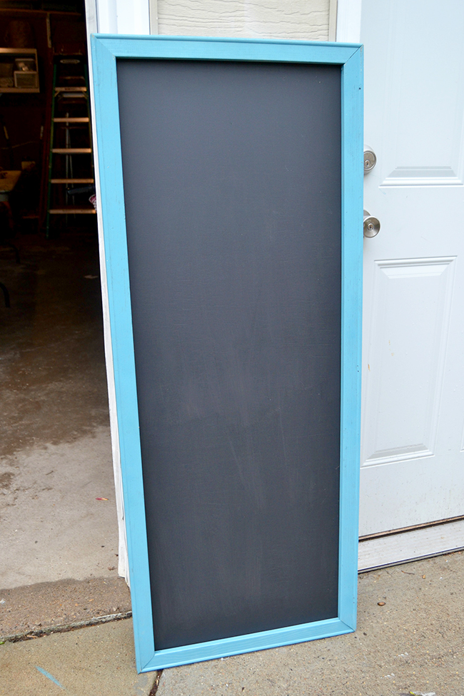 Chalkboard paint is an easy way to turn an inexpensive piece of plywood into the perfect size and shape of chalkboard you need for your DIY project.