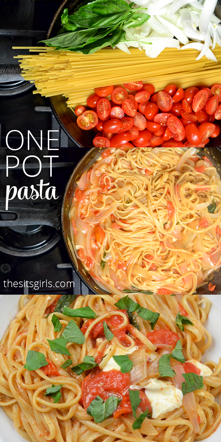 Have you tried one pot pasta? It is a brilliant idea for busy weeknight. This whole dinner is ready in less than 15 minutes.