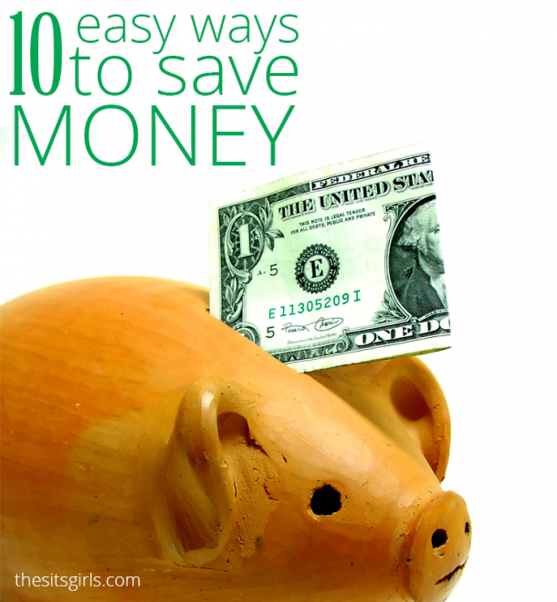 10 amazingly easy ways to save money! Plus great tips to teach you how to track your spending and set a budget.
