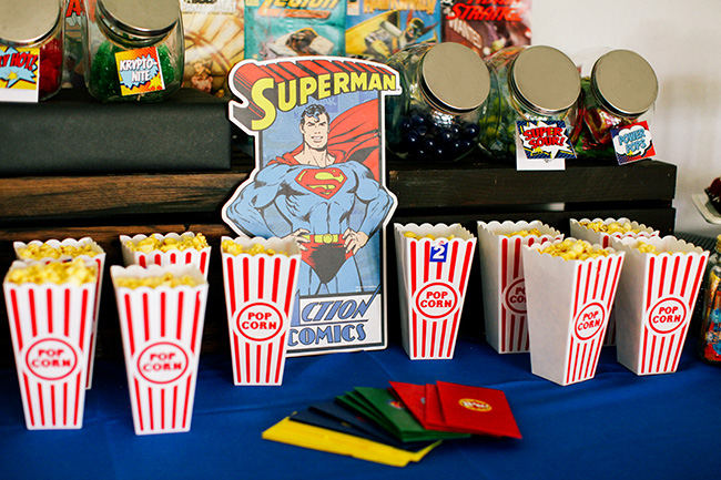 All super heroes love popcorn!
