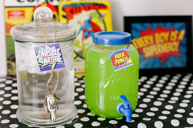 Super Hero Party Drinks
