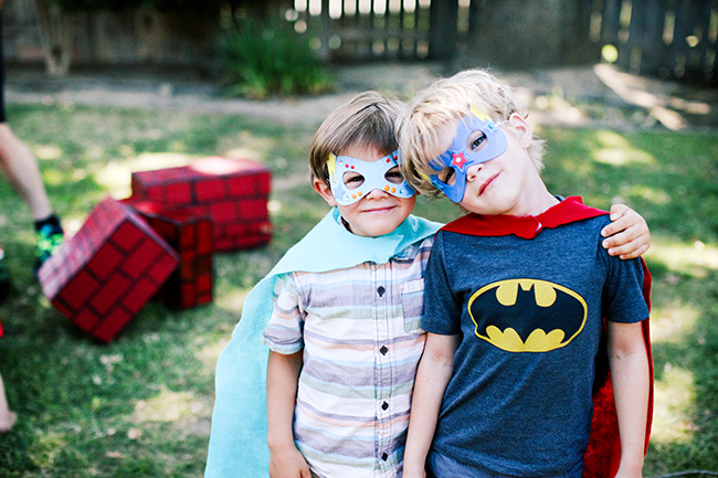 Super Heroes! Let kids decorate their own masks for your superhero party.