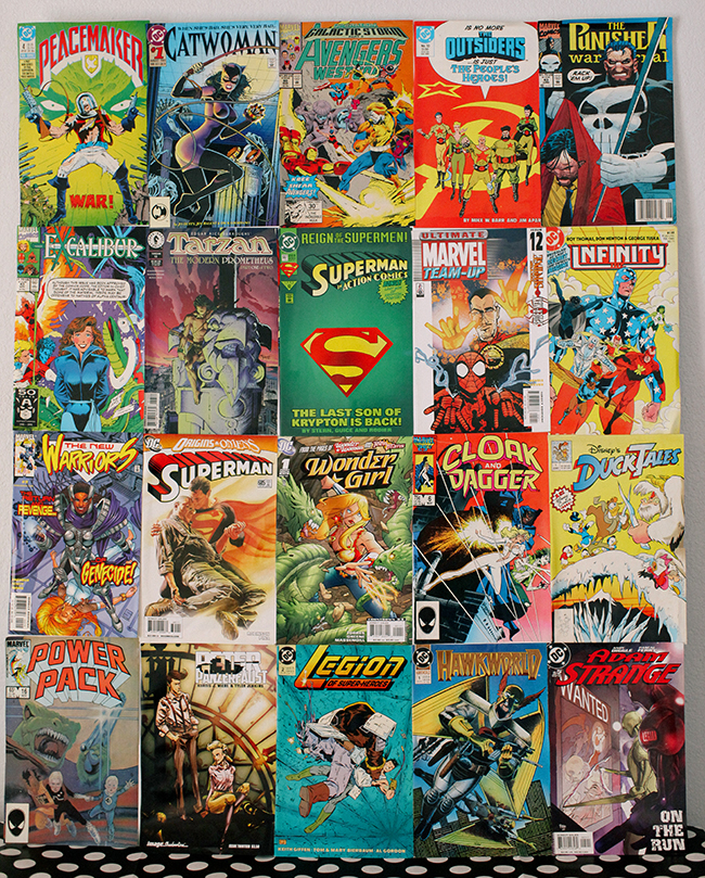 This is an easy backdrop for your super hero party. Make sure not to use comic books you want to keep as collectibles.