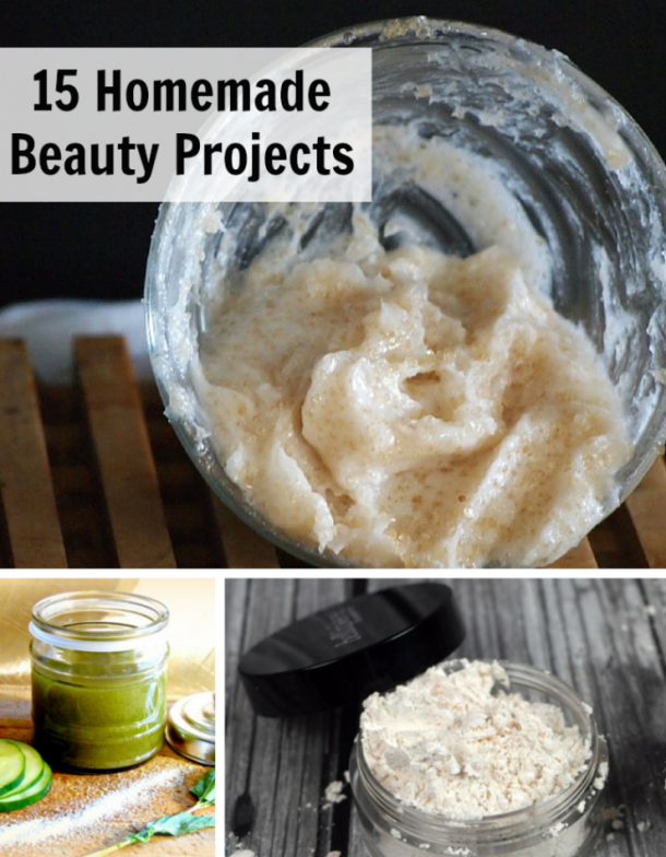 A collection of my favorite 15 DIY beauty projects. These recipes are all simple to make at home and will save you a lot of money on beauty products. | Homemade Beauty Products