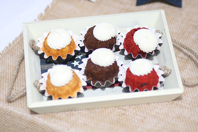 Mini bunt cakes are great for a party. If you do lots of small desserts, your guests get to try everything.