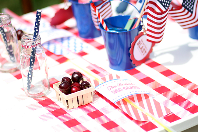Cherries are perfect for snacking and decorating your 4th of July party!